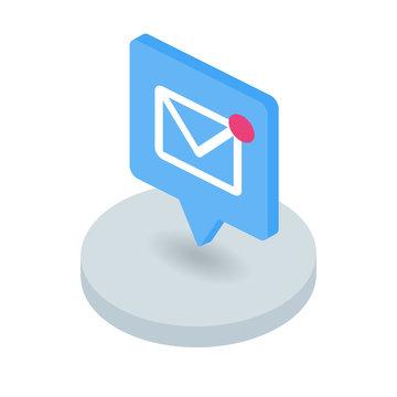 New message isometric icon
