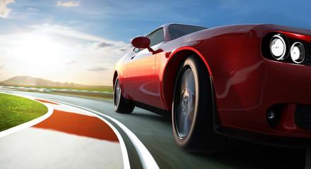 Obraz Dodge challenger - amerykańska motoryzacja - fototapety do salonu