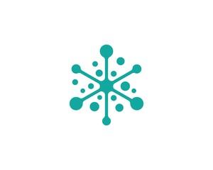 molecule logo vector