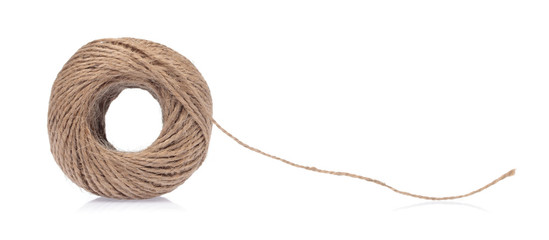 wool yarn isolated on a white background.