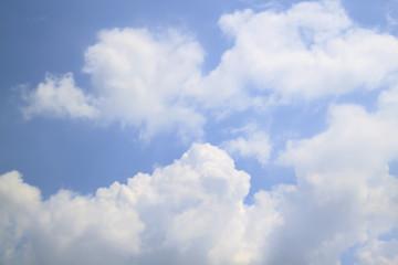 Big beautiful cloud on blue sky background