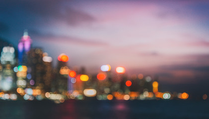 Fotomurales - Blurred Photo  cityscape with bokhe abstract background,Background concept