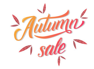 Autumn sale banner and poster design