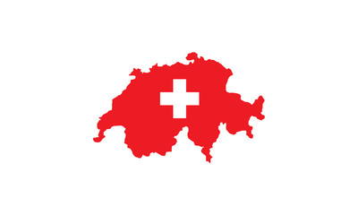 Switzerland national outline borders country state Europe