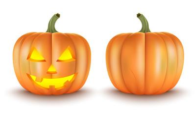 Pumpkin Realistic.Halloween Decoration.Vector illustration