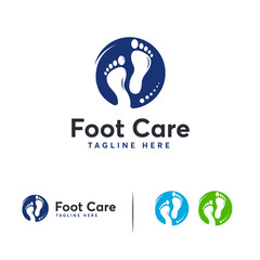 Simple Foot Care logo designs vector, Walking foot logo symbol