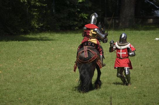 fante contro cavaliere