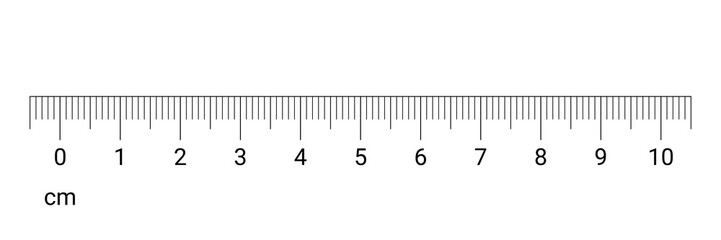 Ruler cm measurement numbers vector scale