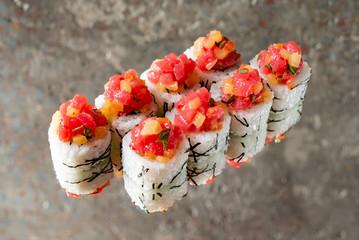 sushi with grapefruit
