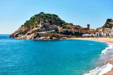 Vila Vella, the oldest part of the town of Tossa del Mar. Spain