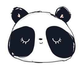 Hand Drawn Cute Panda Bear Vector Illustration