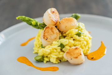 risotto with scallops