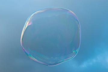 Soap bubble in sky