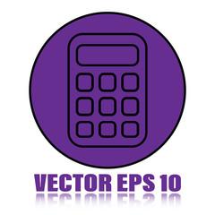Flat Calculator Vector