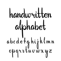 Vector hand-written alphabet set isolated on the white background.