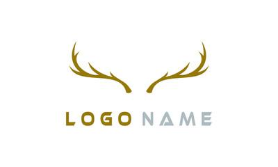 Fototapeta antler logo simple
