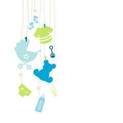 Baby Card Hanging Symbols Boy