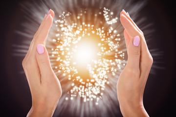 Woman's Hand Protecting Light