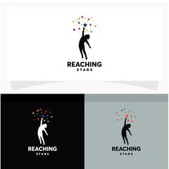 Reaching Stars Logo Design Template