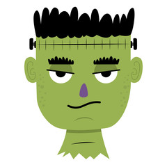 Cartoon unimpressed Frankenstein
