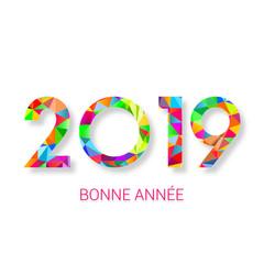 bonne année 2019 - carte de voeux française
