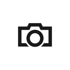 Camera line art icon for apps and websites