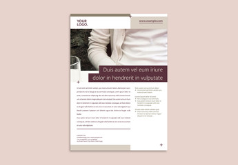 Business Flyer Layout with Brown Accents