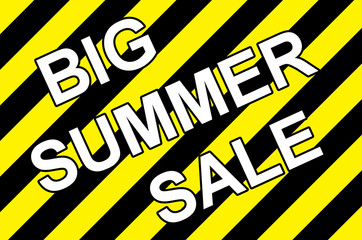 big summer sale poster placard with warning stripes 300dpi
