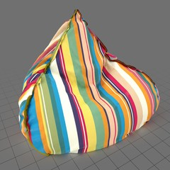 Triangular beanbag chair