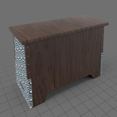 Stackable wooden chest
