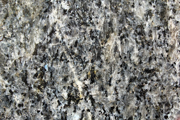 Detail of black granite polished surface