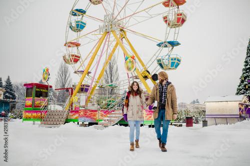 Couple fuck at amusement park