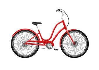 A classic Bicycle in vector on white background.