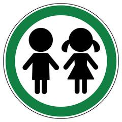 srg432 SignRoundGreen - german - ez432 ErlaubnisZeichen: Für Personen / Kinder: (Fußgänger) Zutritt erlaubt - english - children / kids (pedestrian) allowed - green g6517