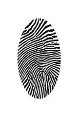 fingerprint. vector image
