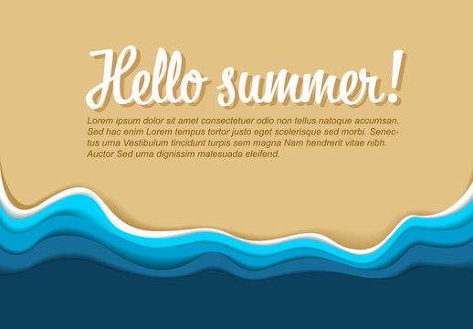 Summer Themed Banner Layout