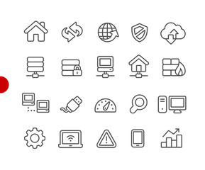 Web Developer Icons // Red Point Series - Vector line icons for your digital or print projects.