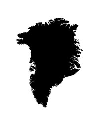 map of Greenland. vector image
