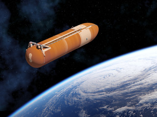 Fotomurales - Space Shuttle External Tank In Outer Space