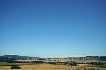 Windmühlen im Weserbergland in Niedersachsen