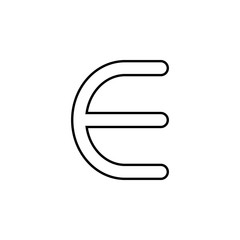 euro sign icon. Thin line  icon for website design and development, app development. Premium icon