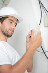 Man wiring switch