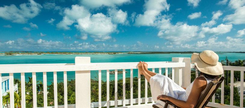 Relaxing at Bahamas,