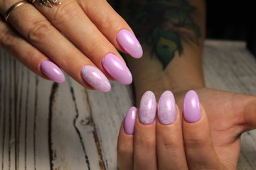 fashion manicure nails