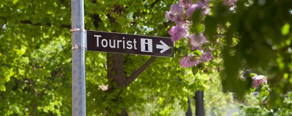 Tourist Info Schild Wall mural