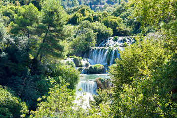 Skradinski Buk Waterfall in Krka National Park - Dalmatia, Croatia