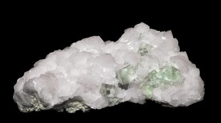 fluorite crystals in calcite