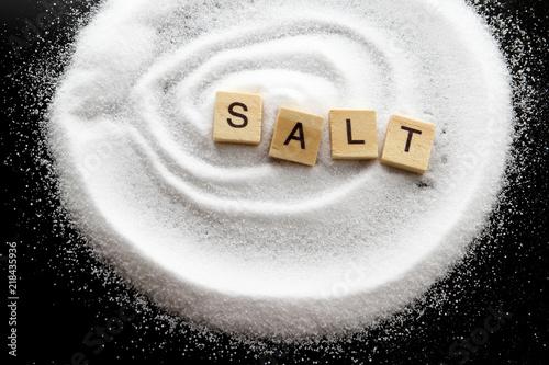 Salt Background Salt Table Salt Or Common Salt Is A Mineral