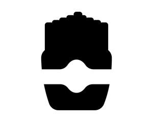 black, roast chicken image vector icon logo