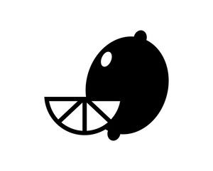 black Lemon image vector icon logo